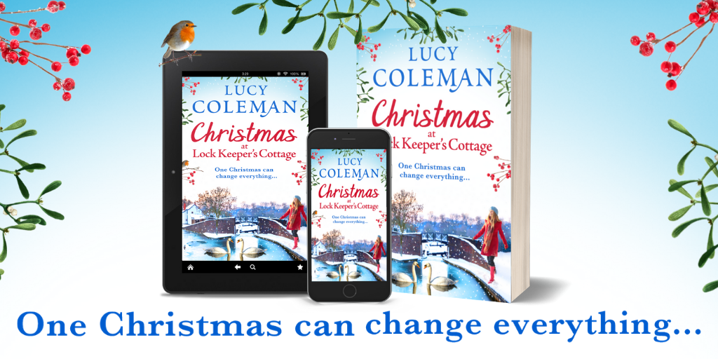 What inspired the setting for Christmas at Lock Keeper's Cottage – Lucy Coleman