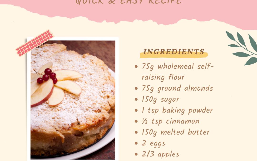 Apple & Almond Cake Recipe